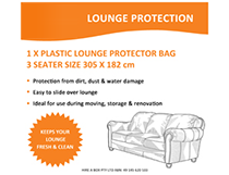 Cover 3 Seater Lounge